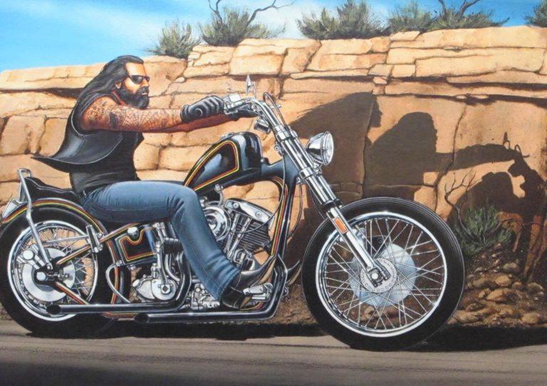La puce et le motard !